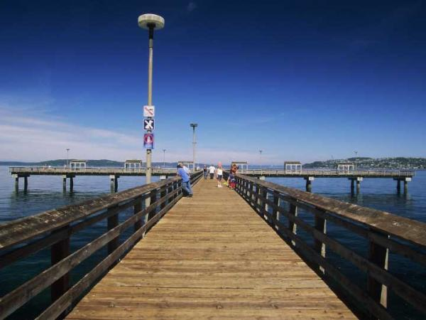 Ruston Way dock at Commencement Bay